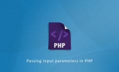 Passing input parameters in PHP