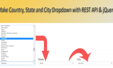 Make Country, State and City Dropdown with REST API & jQuery