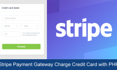 Stripe Payment Gateway Charge Credit Card with PHP