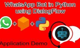WhatsApp chatbot in Python using Dialogflow.com