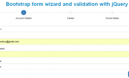 Create Bootstrap form wizard and validation with jQuery