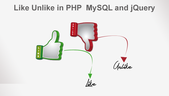 Create Like & Unlike System in PHP, MySQL and jQuery