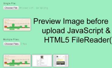 How to show Image before upload JavaScript & HTML5 FileReader()