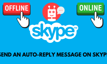 How do I send an auto-reply message on Skype?