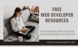 15 websites offering free web developer resources