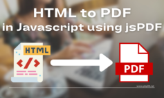 Convert HTML to PDF in Javascript using jsPDF with Example Download